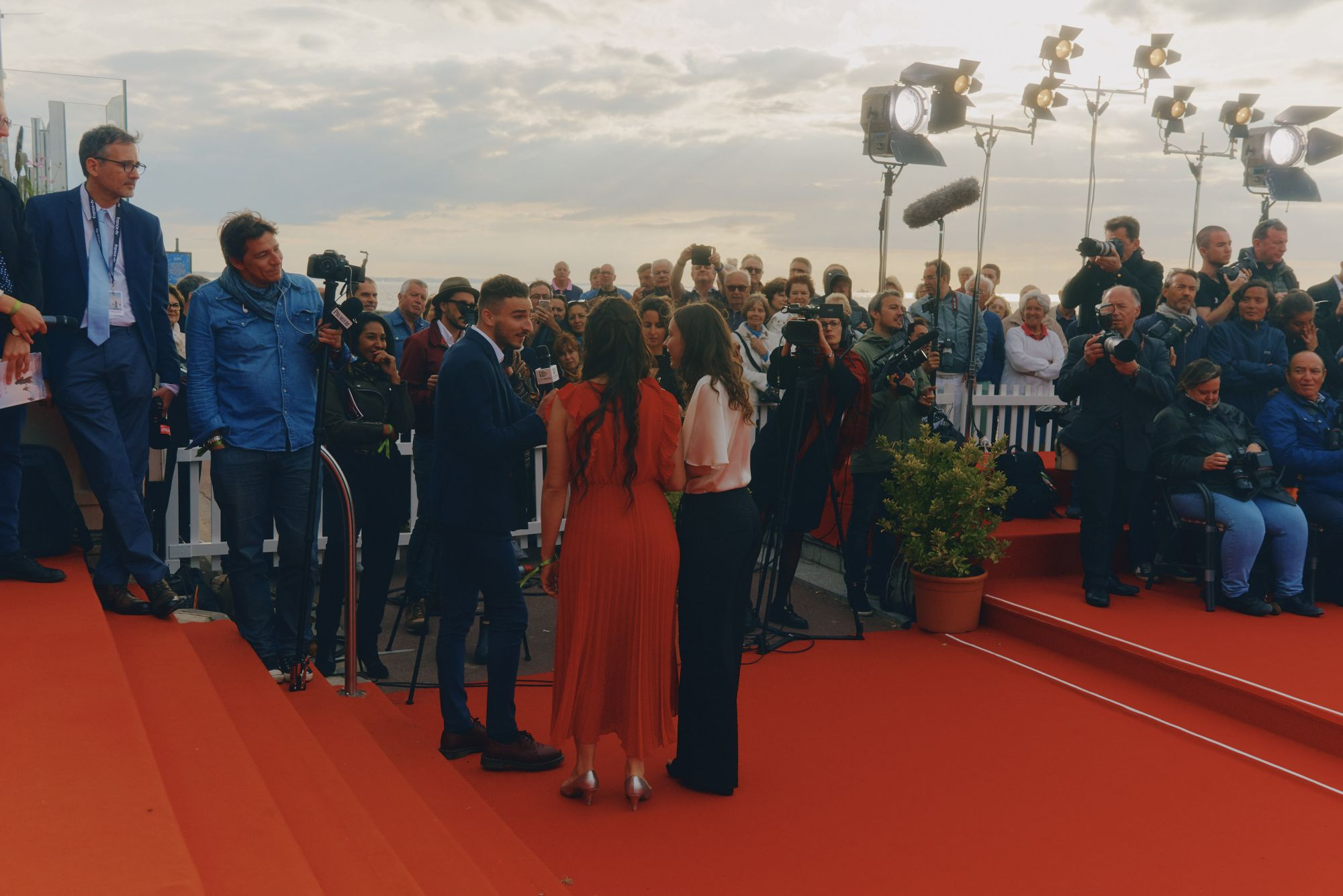 Interview sur le tapis rouge